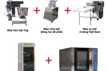 Dây chuyền Làm bánh mì (tất cả các loại máy)