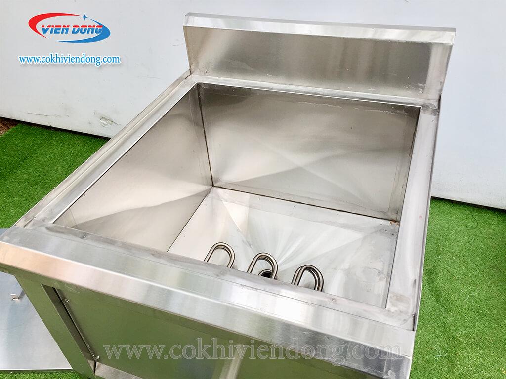 thiết kế bếp chiên công nghiệp đơn