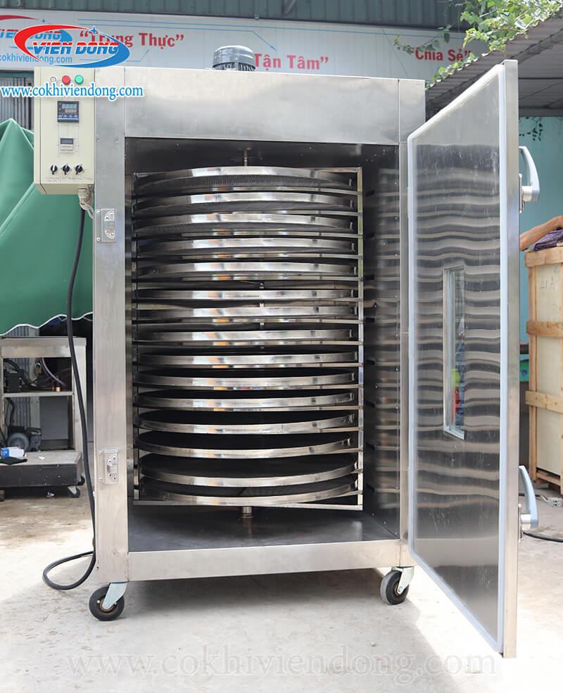Máy sấy công nghiệp xoay 15 khay Việt Nam inox 304