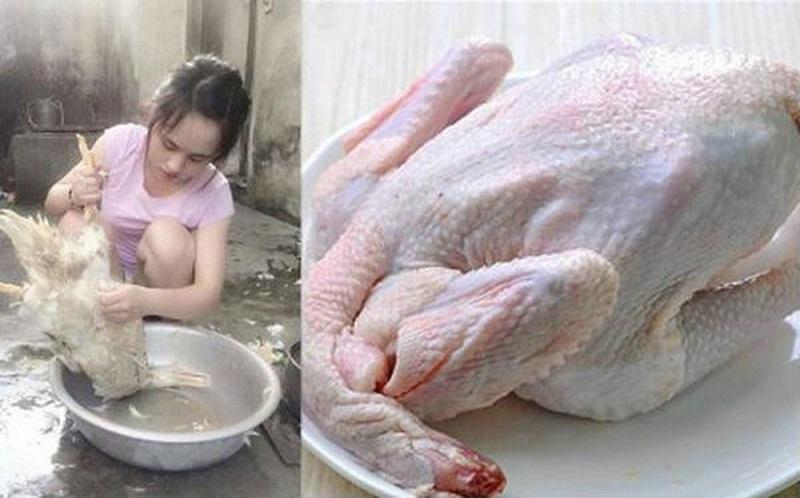 Nhổ lông gà bằng tay