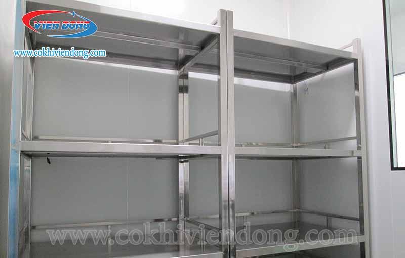 Kệ đựng chén bát bằng inox 3 tầng thiết kế theo yêu cầu