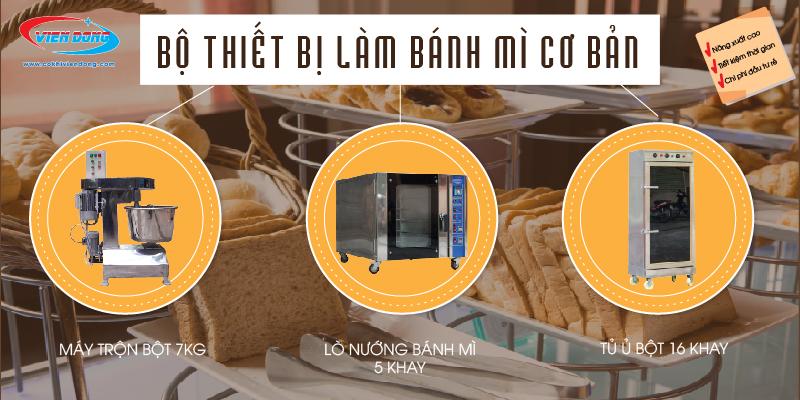 bộ thiết bị làm bánh mì cb-01