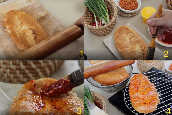 nguyên liệu làm bánh mì nướng muối ớt1
