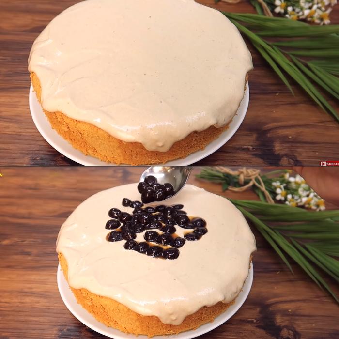 Cách làm bánh bông lan trân châu đường đen ngon