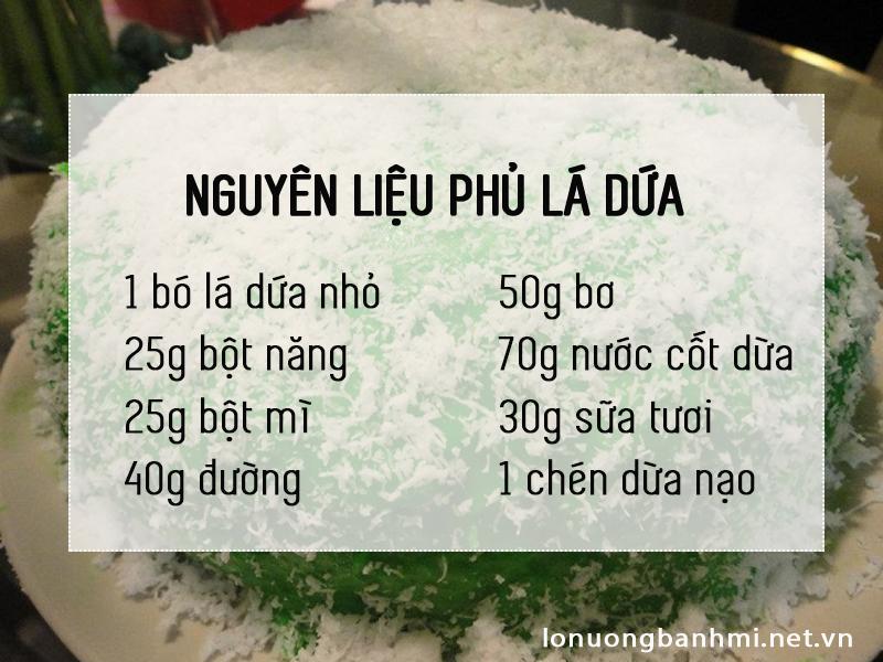 Nguyên liệu cho cách làm bánh phú sĩ không cần lò nướng