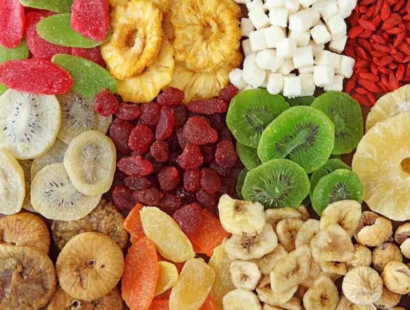 sấy hoa quả bằng máy sấy thực phẩm công nghiệp