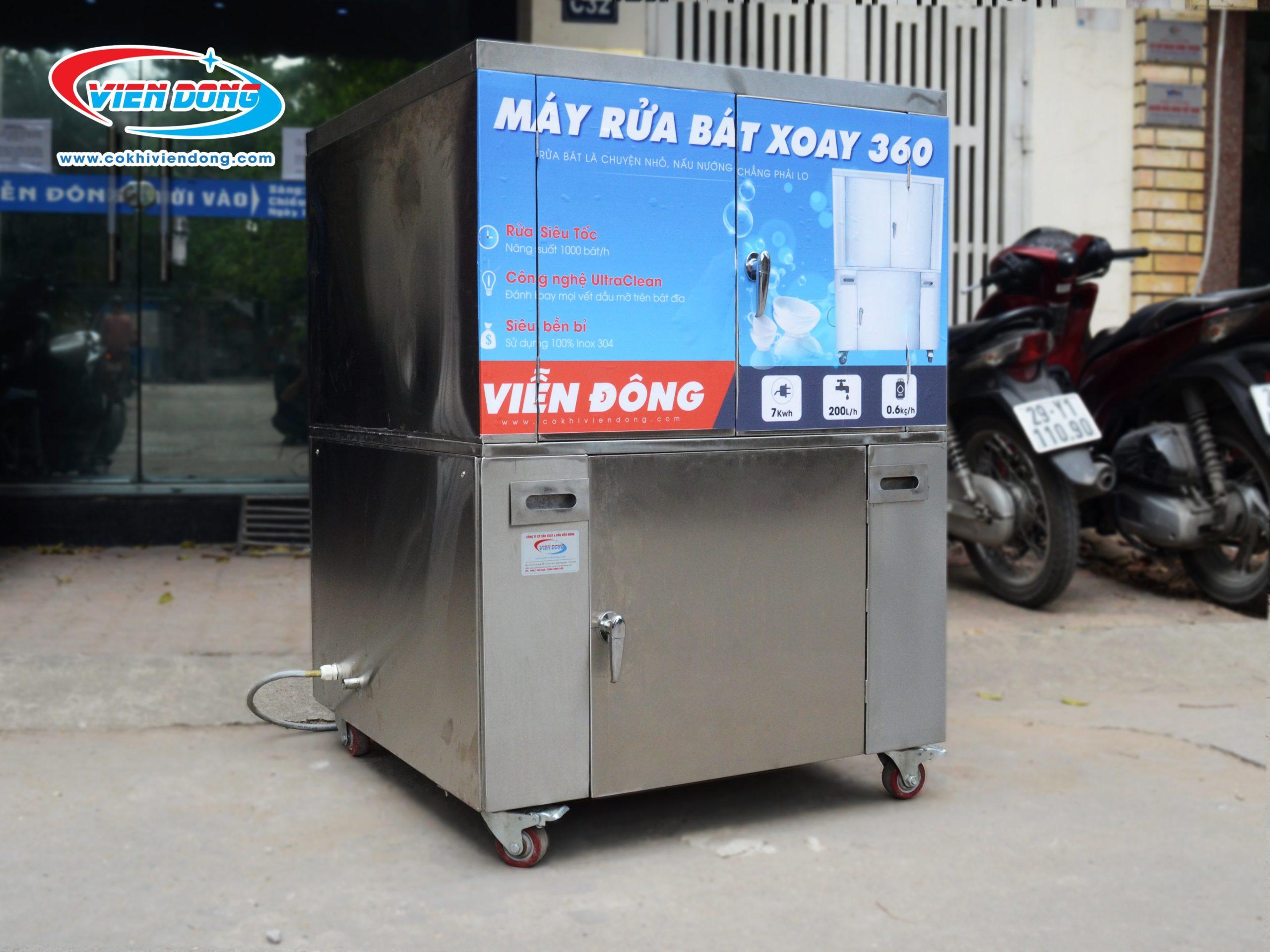 Máy rửa bát được làm từ inox 304 toàn bộ